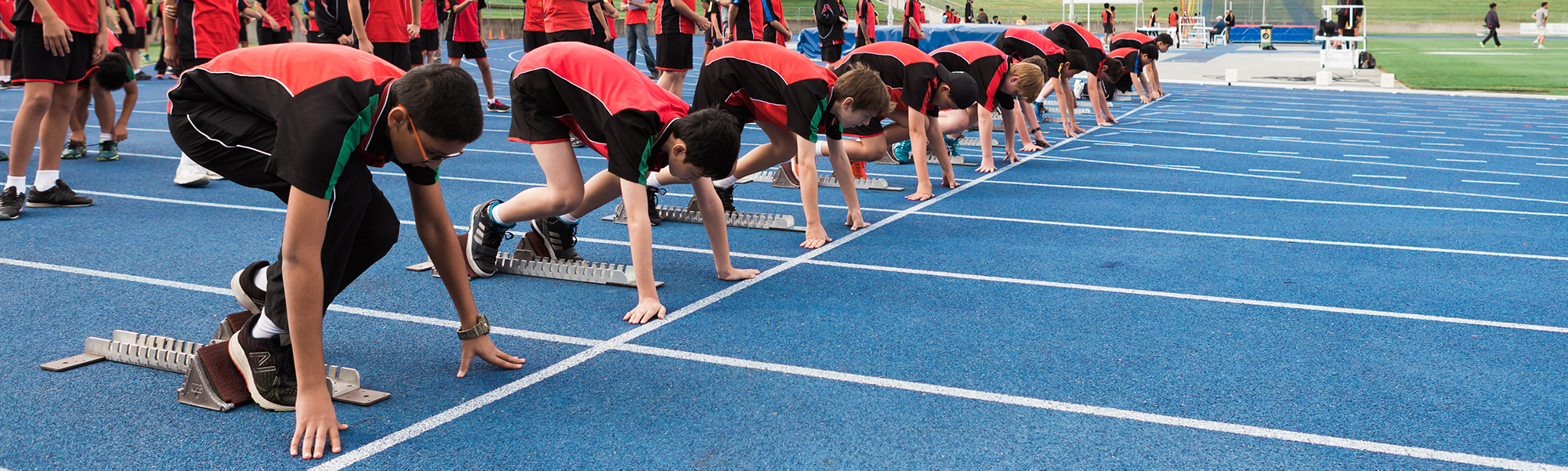 Students participating in the athletics carnival