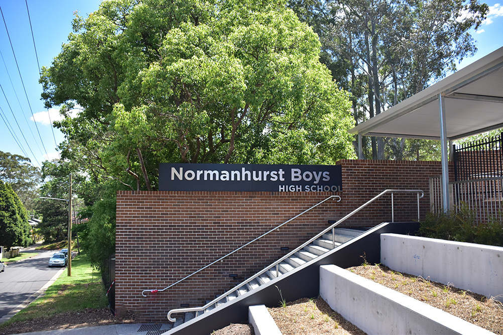 Normanhurst Boys High School front entrance on Fraser Road