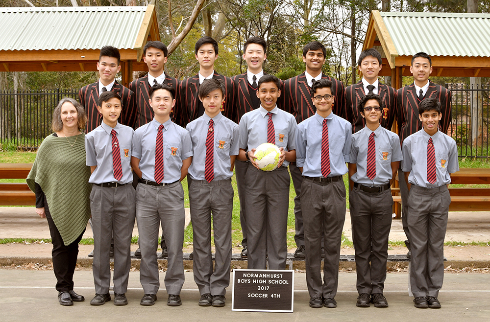 A grade sport soccer team from Normanhurst Boys High School