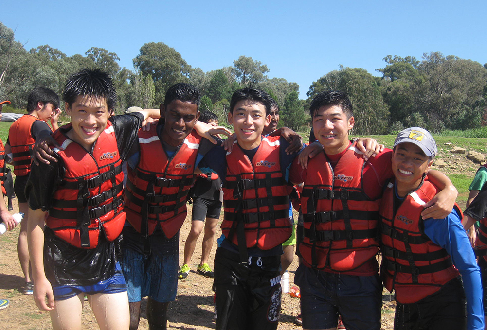 Year 11 students at the Burrendong camp