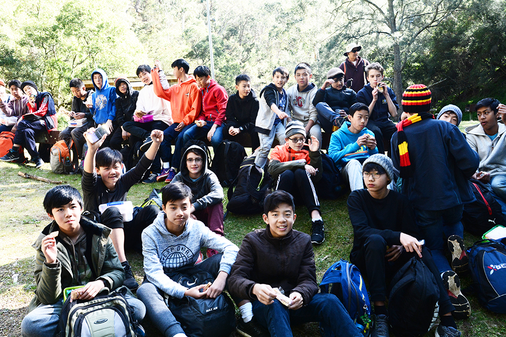 Students from Year 7 2017 at Jenolan Caves
