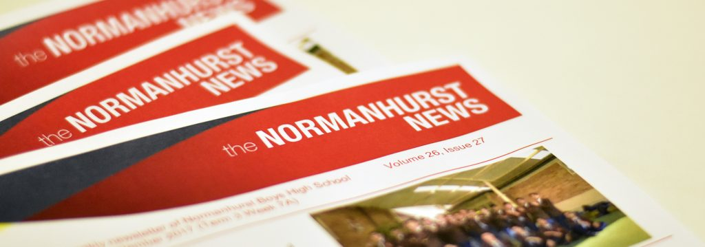 A collage showing some Normanhurst Boys High School newsletters