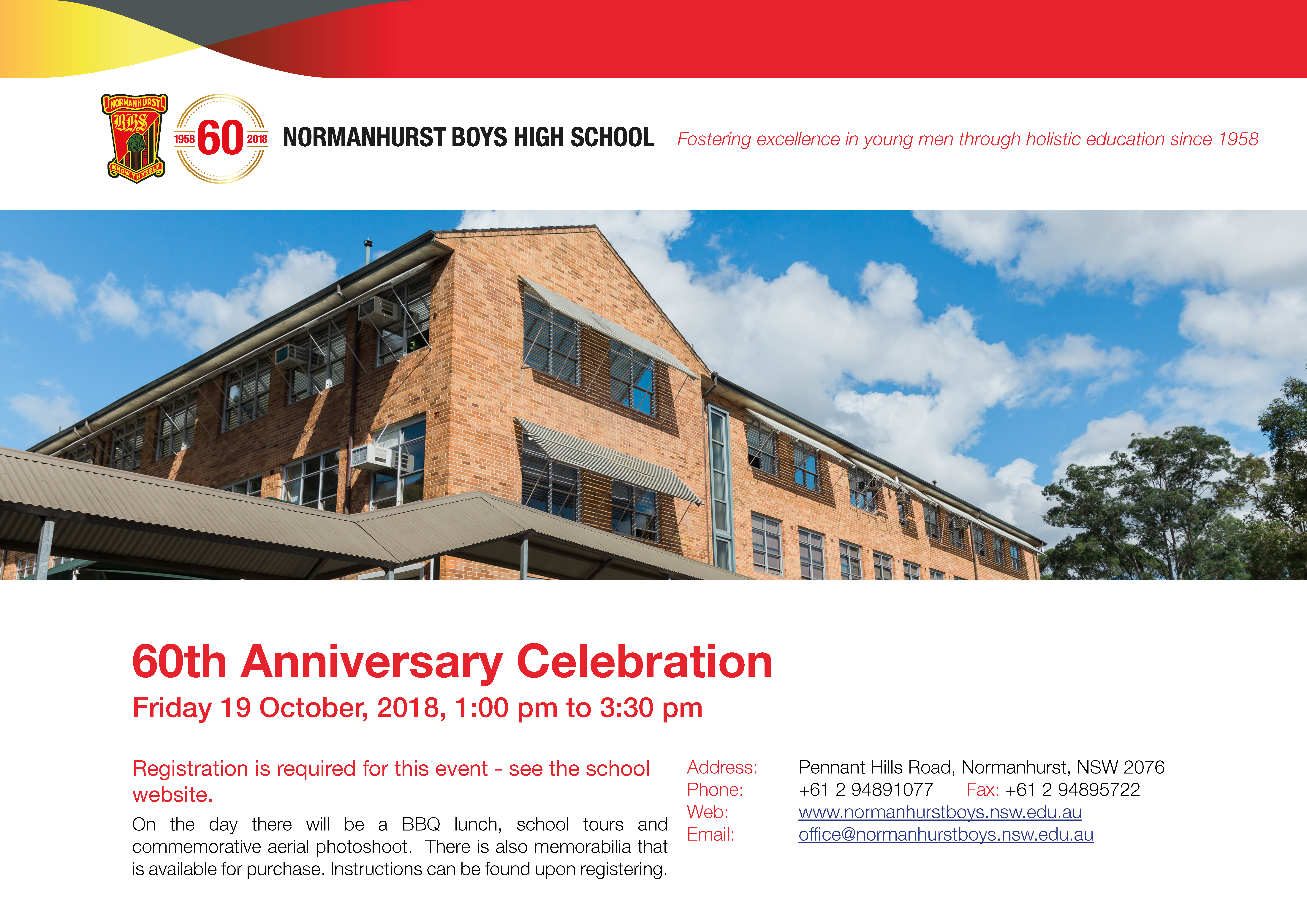 60th anniversary flyer