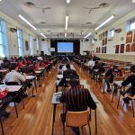 Picture of students sitting examinations